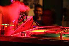 μίγμα του DJ Στοκ εικόνες με δικαίωμα ελεύθερης χρήσης