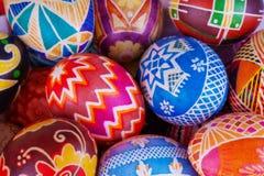 Μίγμα των αυγών με τα παραδοσιακά σχέδια Στοκ Εικόνες