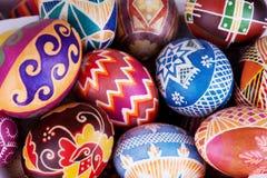Μίγμα των αυγών με τα παραδοσιακά σχέδια Στοκ φωτογραφίες με δικαίωμα ελεύθερης χρήσης