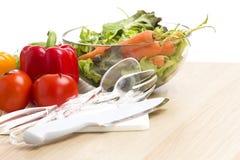 Μίγμα των λαχανικών στη σαλάτα στοκ φωτογραφίες