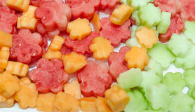 Μίγμα των ζωηρόχρωμων φρούτων Στοκ φωτογραφίες με δικαίωμα ελεύθερης χρήσης