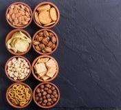 Μίγμα των πρόχειρων φαγητών Στοκ Εικόνες