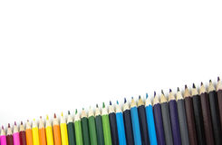 Μίγμα των χρωματισμένων μολυβιών Στοκ φωτογραφία με δικαίωμα ελεύθερης χρήσης