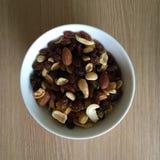 Μίγμα φρούτων και καρυδιών Στοκ Φωτογραφίες