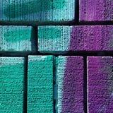 Μίγμα χρώματος στο τουβλότοιχο Στοκ Εικόνα