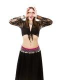 Μίμος χορευτών κοιλιών στοκ εικόνες με δικαίωμα ελεύθερης χρήσης
