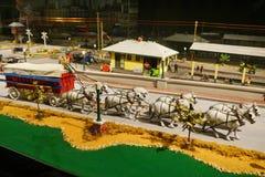 Μίνι άγαλμα τσίρκων: ζωικό κάρρο Στοκ Εικόνες