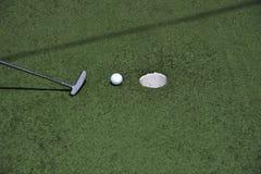 Μίνι γκολφ παιχνιδιών Στοκ εικόνα με δικαίωμα ελεύθερης χρήσης