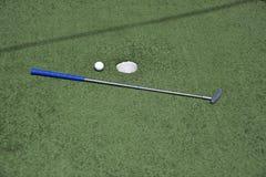 Μίνι γκολφ παιχνιδιών Στοκ Φωτογραφίες