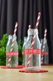 Μίνι γυαλί μπουκαλιών Στοκ Φωτογραφία