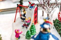 Μίνι ειδώλια Χριστουγέννων Στοκ Φωτογραφία