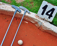 Μίνι εξοπλισμός γκολφ στοκ εικόνες