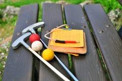 Μίνι εξοπλισμός γκολφ στοκ φωτογραφία με δικαίωμα ελεύθερης χρήσης