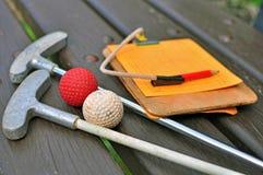Μίνι εξοπλισμός γκολφ στοκ εικόνες με δικαίωμα ελεύθερης χρήσης