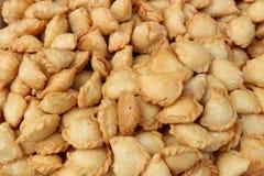 Μίνι επιδόρπιο τροφίμων υποβάθρου ριπών κάρρυ στοκ φωτογραφίες