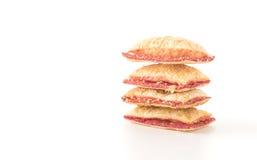 μίνι μπισκότο πιτών με τη μαρμελάδα φραουλών Στοκ εικόνα με δικαίωμα ελεύθερης χρήσης