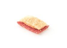 μίνι μπισκότο πιτών με τη μαρμελάδα φραουλών Στοκ Εικόνες