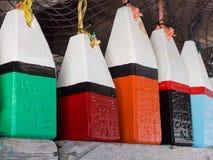 Μίνι ξύλινοι σημαντήρες Στοκ Φωτογραφίες