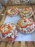 Μίνι πίτσα στοκ εικόνες