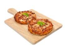 μίνι πίτσες στοκ εικόνες