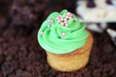 Μίνι πράσινο muffin στοκ εικόνες