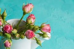 μίνι ρόδινα τριαντάφυλλα Στοκ φωτογραφία με δικαίωμα ελεύθερης χρήσης