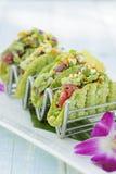 Μίνι σπρώξιμο Tacos Ahi Στοκ εικόνες με δικαίωμα ελεύθερης χρήσης