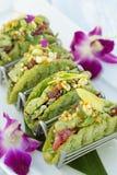Μίνι σπρώξιμο Tacos Ahi Στοκ Φωτογραφίες