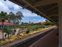Μίνι σταθμός τρένου στη φυτεία επιδομάτων ανεργίας στοκ εικόνες