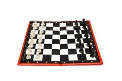 Μίνι συμπαγές φορητό σκάκι με τους μικρούς αριθμούς Στοκ Φωτογραφία