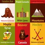 Μίνι σύνολο αφισών του Καναδά Στοκ Φωτογραφία