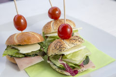 Μίνι σύνολο σάντουιτς Στοκ Εικόνα