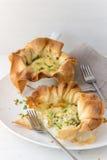 Μίνι tarts κρεμμυδιών Στοκ Εικόνες