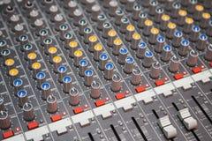 μίξη του ήχου Στοκ Εικόνα