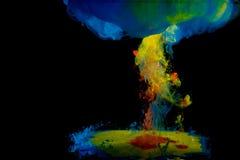 Μίξη του διάφορου χρώματος στοκ εικόνες με δικαίωμα ελεύθερης χρήσης
