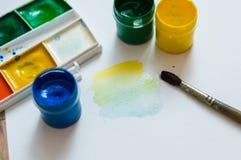 Μίξη των χρωμάτων Στοκ εικόνα με δικαίωμα ελεύθερης χρήσης