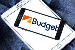 Μίσθωμα προϋπολογισμών ένα λογότυπο συστημάτων αυτοκινήτων Στοκ φωτογραφίες με δικαίωμα ελεύθερης χρήσης