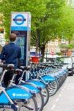 Μίσθωση κύκλων της Barclays Στοκ Φωτογραφία