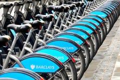 μίσθωση κύκλων της Barclays Στοκ Φωτογραφίες