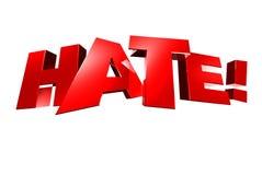Μίσος τρισδιάστατο ελεύθερη απεικόνιση δικαιώματος