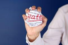 μίσος Στοκ φωτογραφίες με δικαίωμα ελεύθερης χρήσης