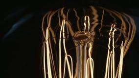 Μίσχος και καλωδίωση αναδρομικού Newton lightbulb που τροφοδοτείται επάνω