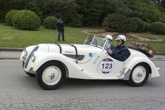 1000 μίλια, BMW 328 (1938), BACCANELLI Maximo, GACHE Alejandro Στοκ φωτογραφίες με δικαίωμα ελεύθερης χρήσης