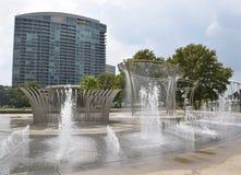 Μίλι Scioto στο στο κέντρο της πόλης Columbus Οχάιο Στοκ Φωτογραφίες