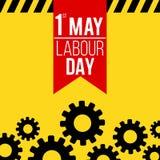 1 Μαΐου έμβλημα ημέρας εργασίας Στοκ εικόνα με δικαίωμα ελεύθερης χρήσης