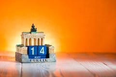 14 Μαΐου ημερολόγιο Γερμανία ημέρας μητέρων ` s Στοκ φωτογραφίες με δικαίωμα ελεύθερης χρήσης