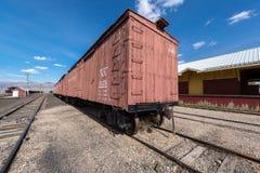 11 Μαΐου 2015 κινητά αποθέματα εξοπλισμού, βόρειο μουσείο σιδηροδρόμων της Νεβάδας, ανατολή Ely Στοκ εικόνα με δικαίωμα ελεύθερης χρήσης