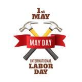 1 Μαΐου πρότυπο υποβάθρου Εργατικής Ημέρας Στοκ Εικόνα