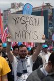 1 Μαΐου στη Ιστανμπούλ Στοκ φωτογραφίες με δικαίωμα ελεύθερης χρήσης