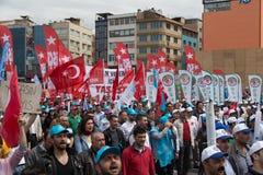 1 Μαΐου στη Ιστανμπούλ Στοκ φωτογραφία με δικαίωμα ελεύθερης χρήσης